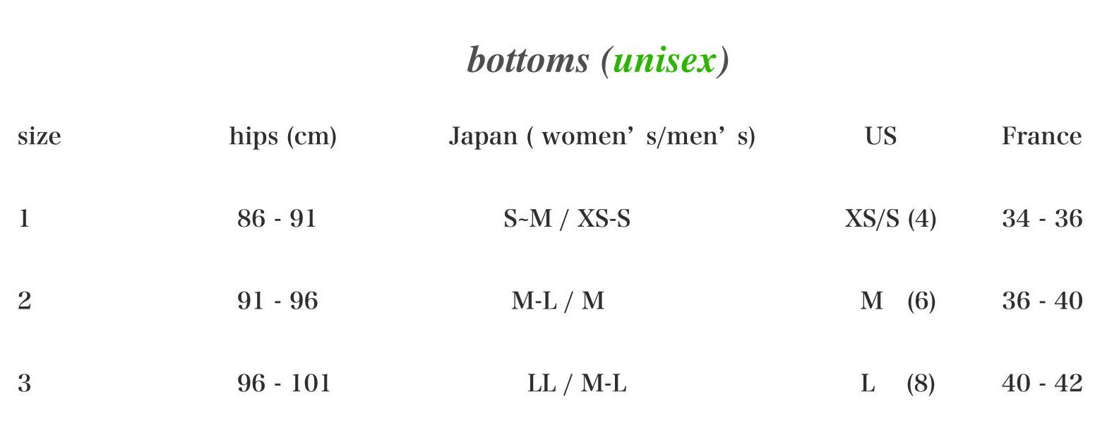 pasquet,_size_bottoms_unisex
